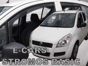 Wind deflectors E-CARS Stromos Basic 5d 2008-> (rear deflectors included)
