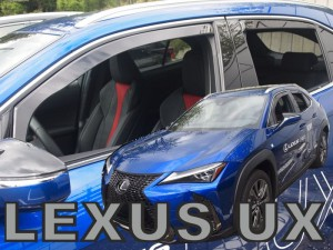 Wind deflectors LEXUS UX 5d 2019-> (rear deflectors included)