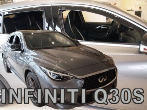 Wind deflectors INFINITI Q30S 5d 2015-2019 (rear deflectors included)