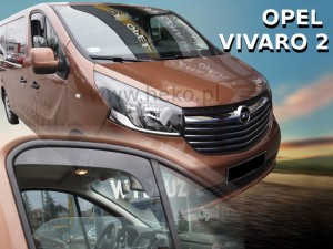 Wind deflectors OPEL Vivaro II 2014-2019 (short) (front only)