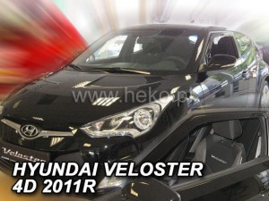 Wind deflectors HYUNDAI Veloster 3d 2011-> (UK version) (front only)