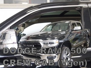 Wind deflectors DODGE Ram 1500 V 4d 2019-> Crew Cab, Quad Cab (front only)