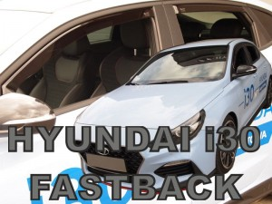 Wind deflectors HYUNDAI i30 Fastback N 5d 2019-> (rear deflectors included)
