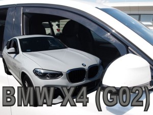 Wind deflectors BMW X4 G02 5d 2018-> (front only)