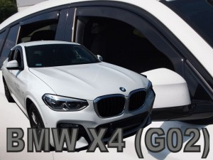 Wind deflectors BMW X4 G02 5d 2018-> (rear deflectors included)