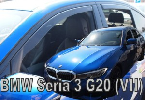Wind deflectors BMW 3 G20 4d 2019-> (rear deflectors included)