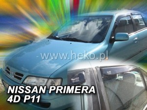 Wind deflectors NISSAN Primera P11 4d 1995-2002 sedan (rear deflectors included)