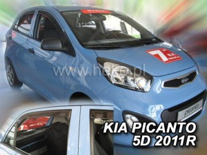 Wind deflectors KIA Picanto II 5d 2011-2017 (rear deflectors included)
