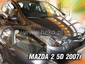 Wind deflectors MAZDA 2 II 5d 06.2007-2009 (rear deflectors included)