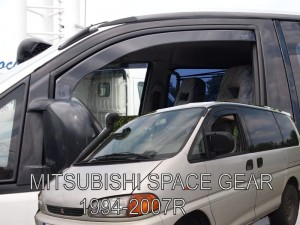 Wind deflectors MITSUBISHI SPACE GEAR 2d 1994-2007 (front only)