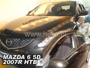 Wind deflectors MAZDA 6 II 5d 2007-2013 GH htb (rear deflectors included)