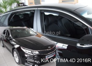Wind deflectors KIA Optima IV JF 4d 2016-> sedan (rear deflectors included)