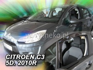 Wind deflectors CITROEN C3 II 5d 2009-2017