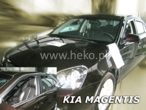Wind deflectors KIA Magentis 4d 2006-> sedan (rear deflectors included)