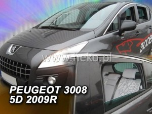 Wind deflectors PEUGEOT 3008 5d 2009-2017 (rear deflectors included)