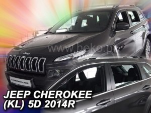 Wind deflectors JEEP Cherokee (KL) 5d 2013-> (rear deflectors included)