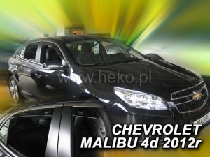 Wind deflectors CHEVROLET MALIBU 4d 2012-> (rear deflectors included)