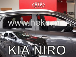 Wind deflectors KIA Niro 5d 2016-> (rear deflectors included)