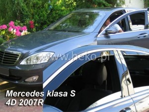 Wind deflectors MERCEDES S 4d 2005-2013 W221 (rear deflectors included)