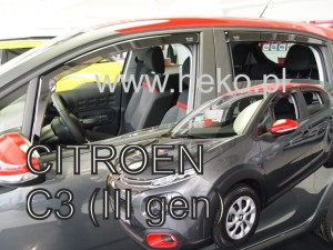 Wind deflectors CITROEN C3 III 5d 2017-> (rear deflectors included)