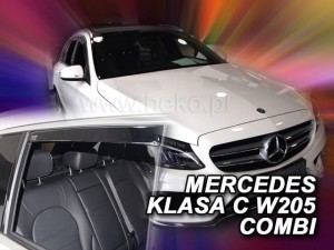 Wind deflectors MERCEDES C W205 5d 2014-> wagon (rear deflectors included)