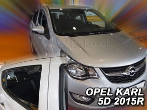 Wind deflectors OPEL Karl 5d 2015-> (rear deflectors included)