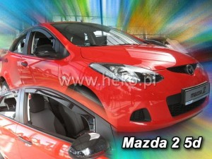 Wind deflectors MAZDA 2 III 5d 2009-2014 (front only)