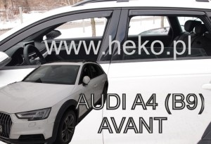 Wind deflectors Audi A4 (B9) Allroad 4d 2016-> (rear deflectors included) (Avant/Allroad)