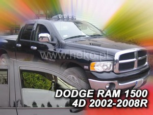 Wind deflectors DODGE Ram 1500 4d 2002-2008 (front only)
