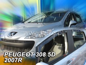 Wind deflectors PEUGEOT 308 I 5d 2007-2013 htb (rear deflectors included)