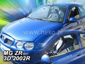 Wind deflectors MG ZR 3d 1999-2005 (front only)