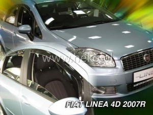 Wind deflectors FIAT Linea 4d 2007-> (rear deflectors included)