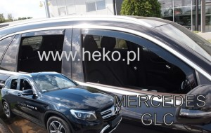 Wind deflectors MERCEDES GLC X253 SUV 5d 2016-> (rear deflectors included)