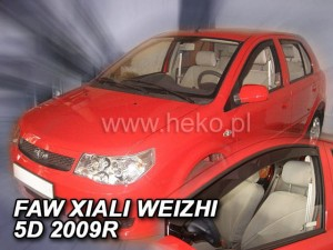 Wind deflectors FAW Xiali Weizhi 5d 2007-> (front only)