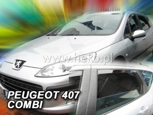 Wind deflectors PEUGEOT 407 SW 5d 2004-> wagon (rear deflectors included)