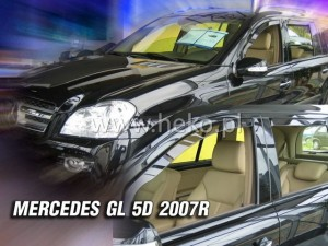 Wind deflectors MERCEDES X164 GL 5d 2007-> (rear deflectors included)