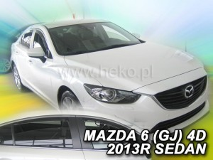 Wind deflectors MAZDA 6 III GJ 4d 2013-> sedan (rear deflectors included)