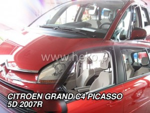 Wind deflectors CITROEN C4 Grand Picasso Mk1 5d 2007-2013 (rear deflectors included)