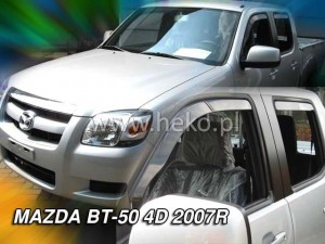 Wind deflectors MAZDA BT50 4d 2007-> (rear deflectors included)