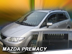 Wind deflectors MAZDA Premacy 5d 1999-2005 (rear deflectors included)