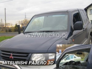 Wind deflectors MITSUBISHI Pajero 3d 2001-> (front only)
