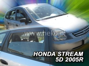 Wind deflectors HONDA Stream 5d 2000-2007 (rear deflectors included)