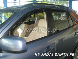 Wind deflectors HYUNDAI Santa Fe 5d 08.2000-2006 (rear deflectors included)