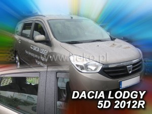 Wind deflectors DACIA Lodgy 5d 2012-> (rear deflectors included)