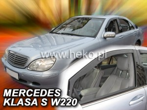 Wind deflectors MERCEDES S W220 4d 1999-2005
