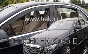 Wind deflectors MERCEDES E W213 4d 2016-> (rear deflectors included)