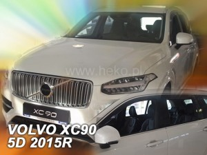 Wind deflectors VOLVO XC 90 5d 2015-> (rear deflectors included)