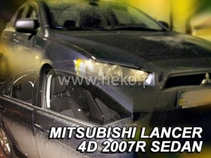 Wind deflectors MITSUBISHI Lancer 4/5d 2007-> (rear deflectors included)