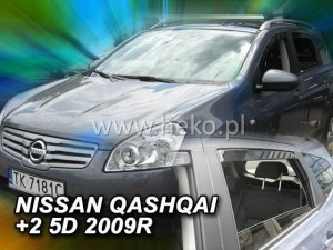 Wind deflectors NISSAN Qashqai +2 5d 11.2008-2013 (rear deflectors included)