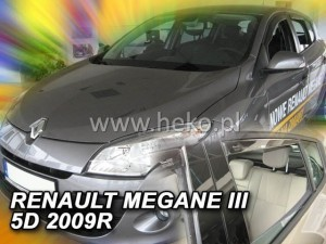 Wind deflectors RENAULT Megane III 5d 11.2008-2016 (rear deflectors included)